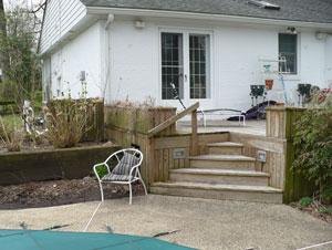 Pool Terrace Steps, Before