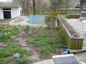 Pool Terrace, Before