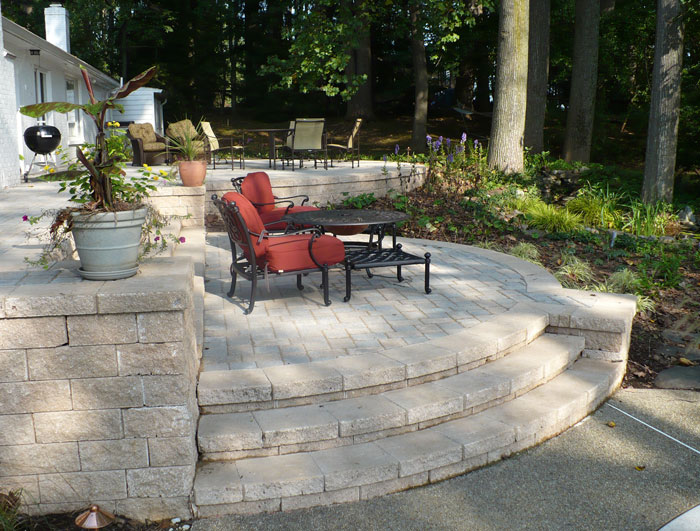Graded Terrace and Stone Steps, After