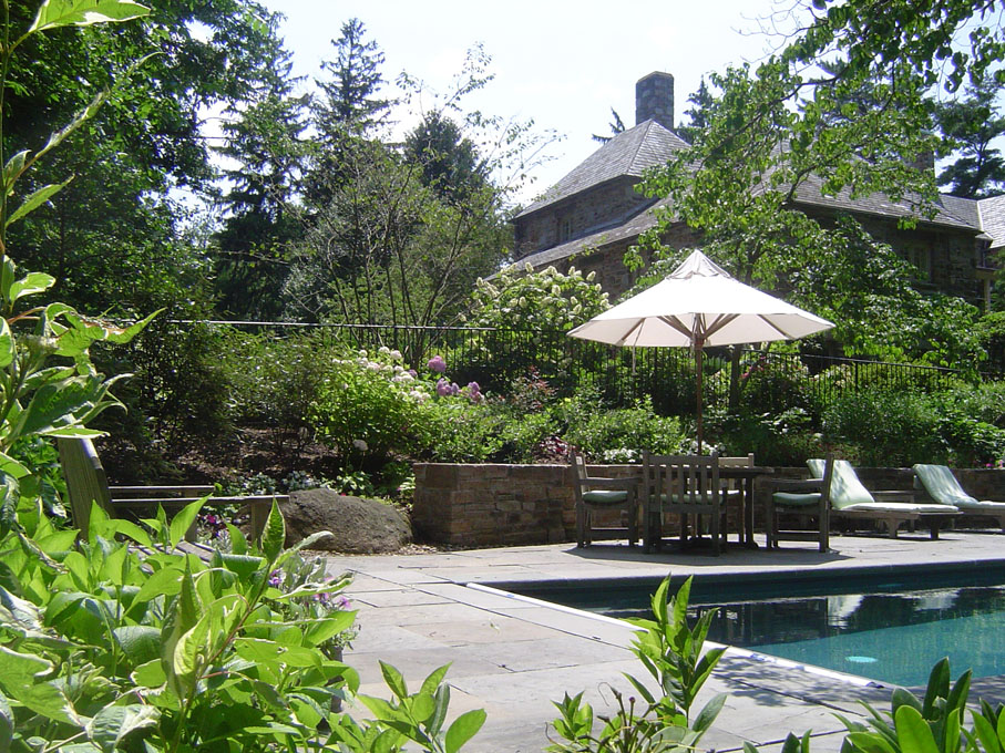 Image of pool terrace