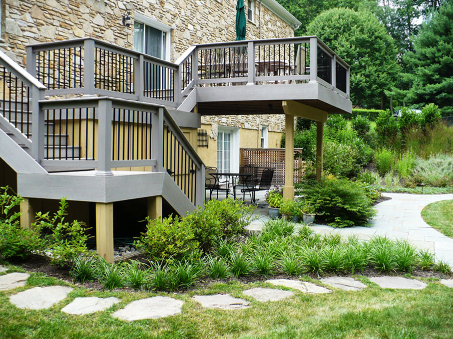 Image of deck and landscaping
