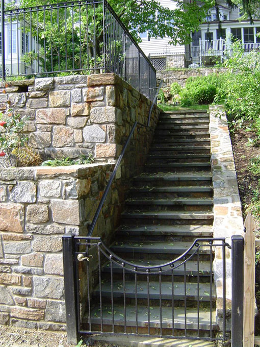 Image of wall and steps
