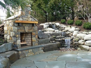 Image of outdoor fireplace