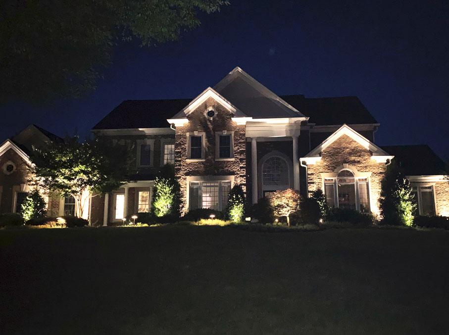 outdoor landscape lighting in baltimore