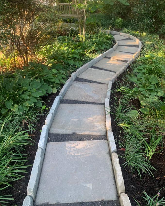 image of garden path