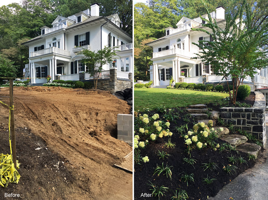 baltimore landscaping roland park before and after